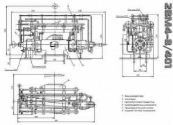 Чертеж компрессора 2ВМ4-8/401